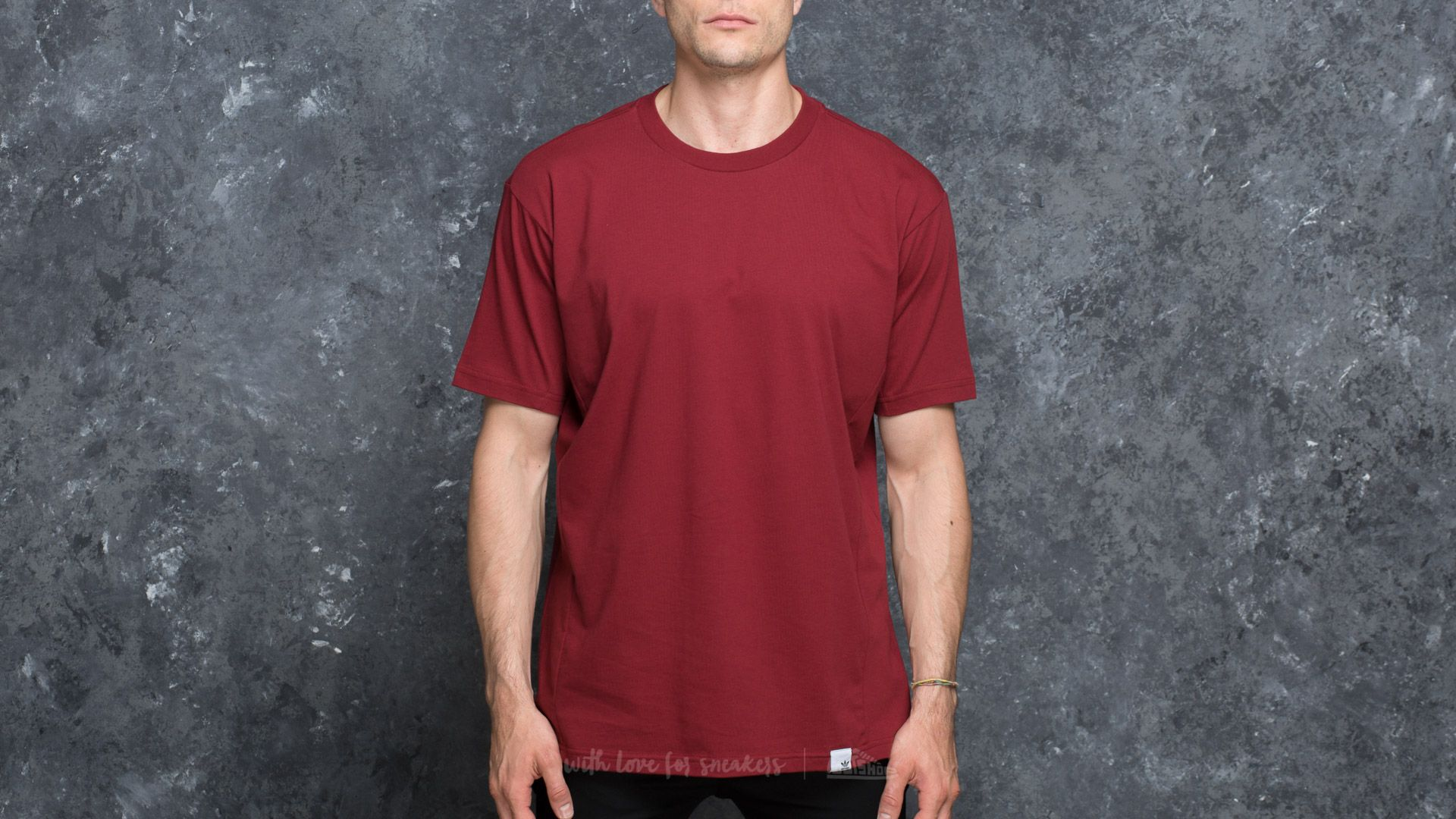 Adidas Originals adidas XbyO Shortsleeve Tee Collegiate Burgundy     dressie.sk ebd768dae52