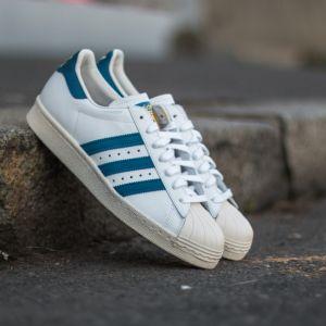 adidas Superstar 80s White/ Dark Roy/ Chalk 2