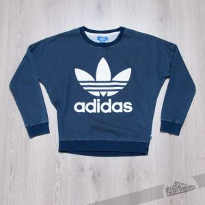 adidas Track Denim Sweatshirt Medium Blue Denim
