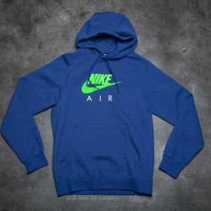 Nike Sportswear Air Fleece Pullover Hoodie Heather Blue