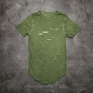 Cayler & Sons BL Ripped Scallop Tee Olive/ Olive