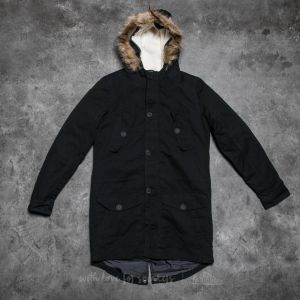 Urban Classics Sherpa Lined Cotton Parka Black