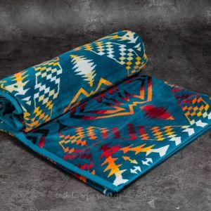 Pendleton Oversized Jacquard Towel Turquoise (Thunder & Earthquake)
