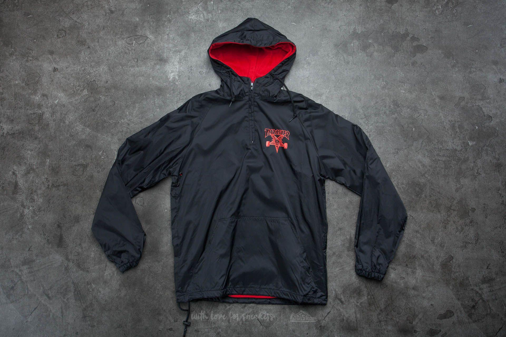 Thrasher Skategoat Coach Hood Black/ Red